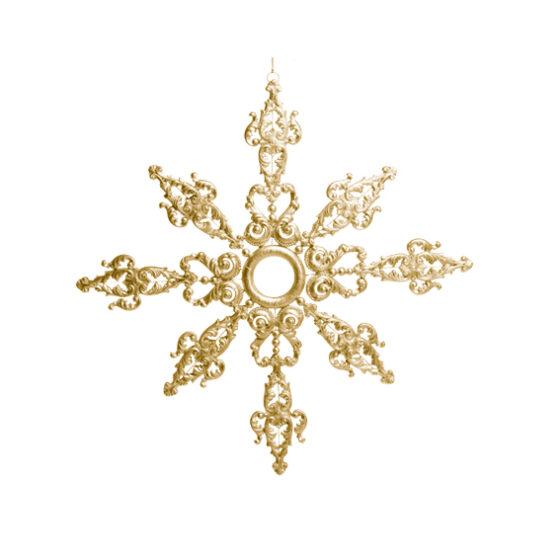 Snöflinga i Guld