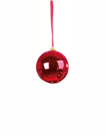 En Klassisk Röd Julkula