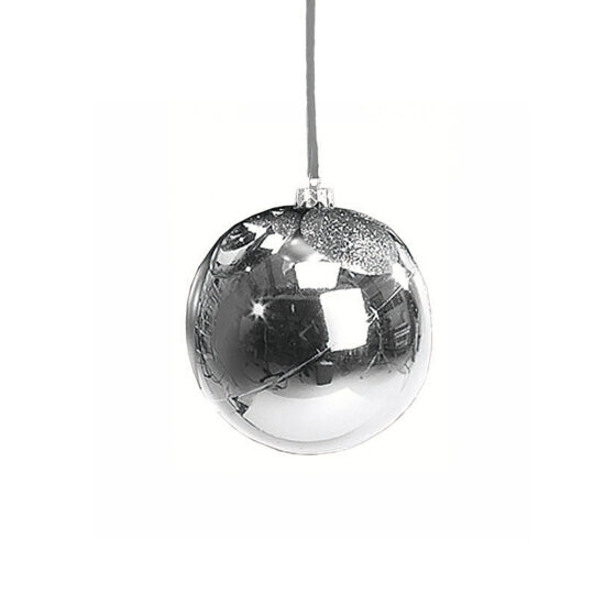 En Klassisk Julkula i Silver