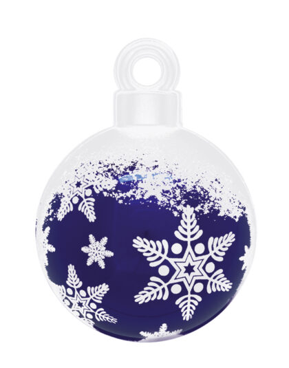 En Blå Jättekula med Snöflingor