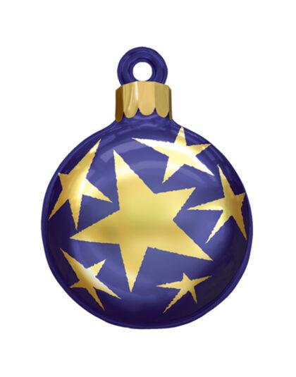 En Blå Jättekula med Guldstjärnor