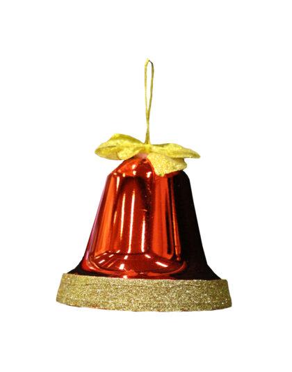 Kula Klocka 10cm Röd