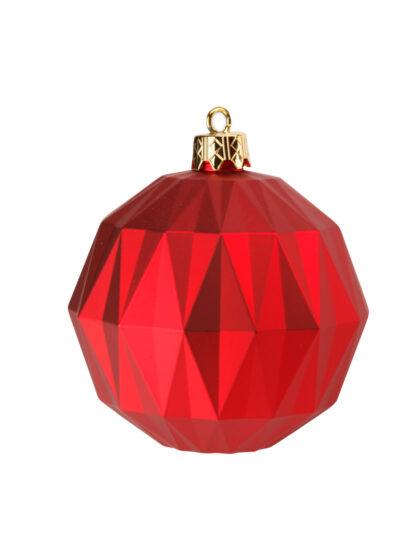 Kula Diamant Röd Matt 12cm