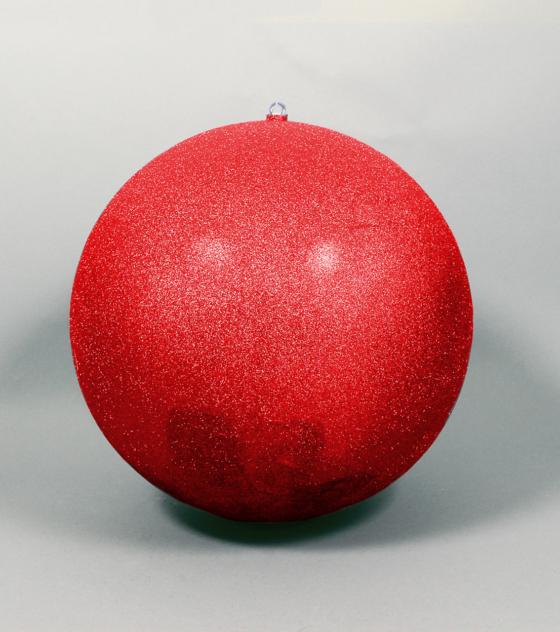Röd kula glitter