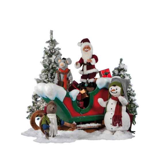 0270-1 Dansande julfigurer på släde