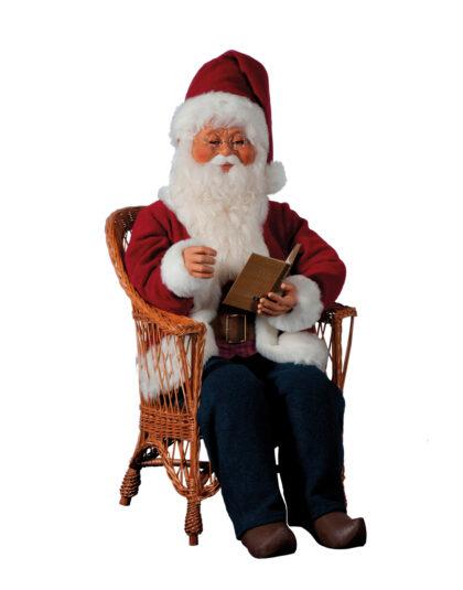 0409-AS Tomte i stol med bok och ljud