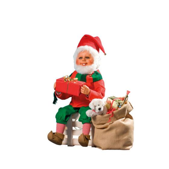 0536 Tomtenisse med julklappssäck