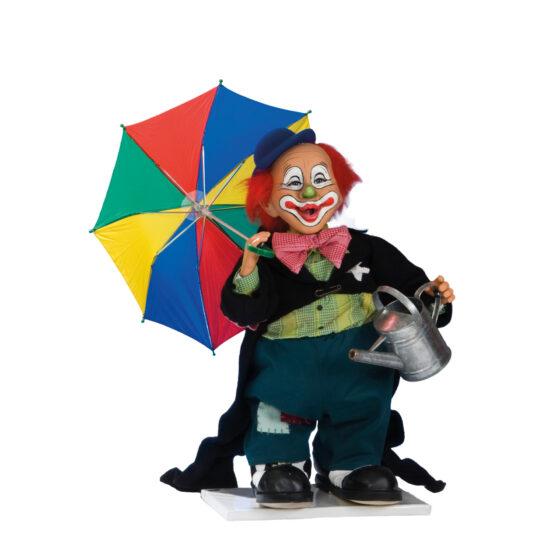 0652 Clown med paraply och såpbubblor