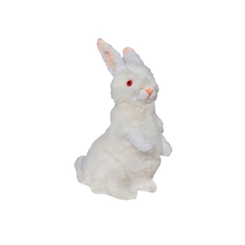 0781 Kanin vit sittande