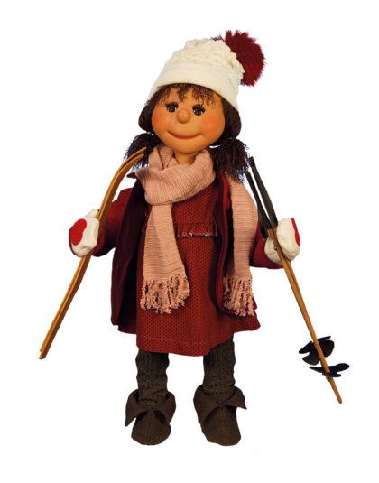 0902 Vinterbarn, flicka på skidor