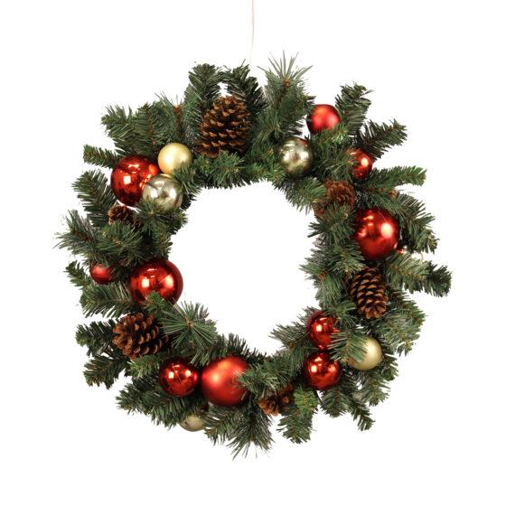 80 cm julkrans för juldekoration i butik