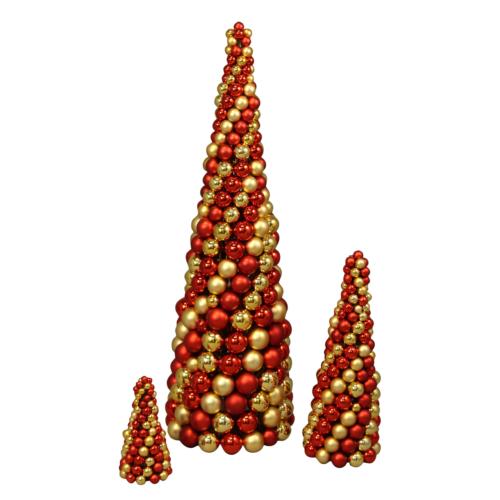 Kulpyramid för juldekoration i butik