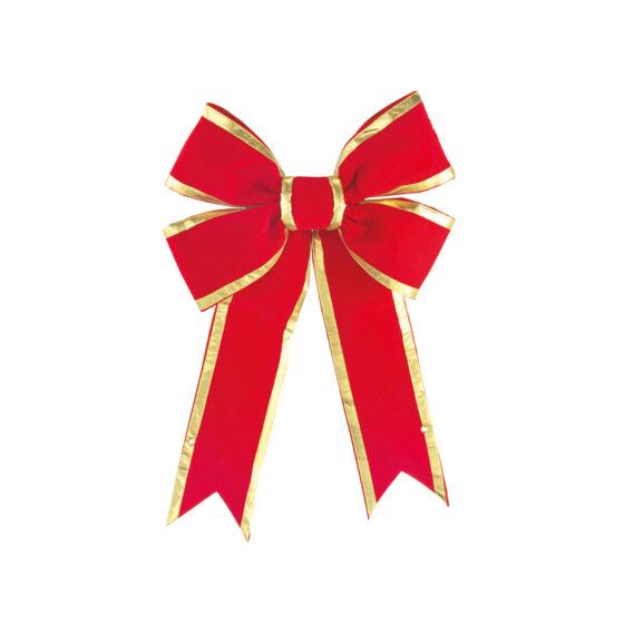 Rosett röd/guld för juldekoration i butik