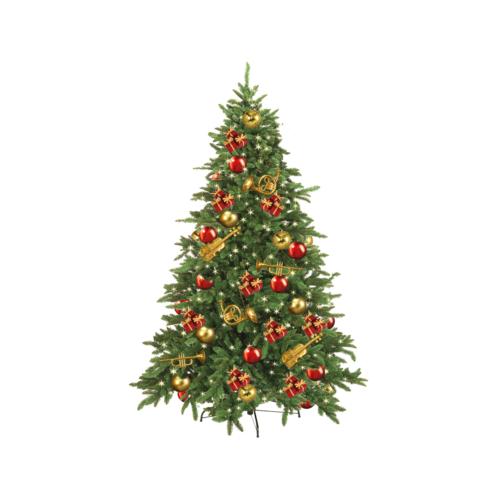 Amerikansk gran i plast för juldekoration i butik