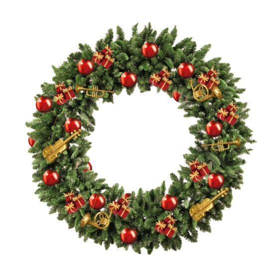 Amerikansk julkrans för juldekoration i butik