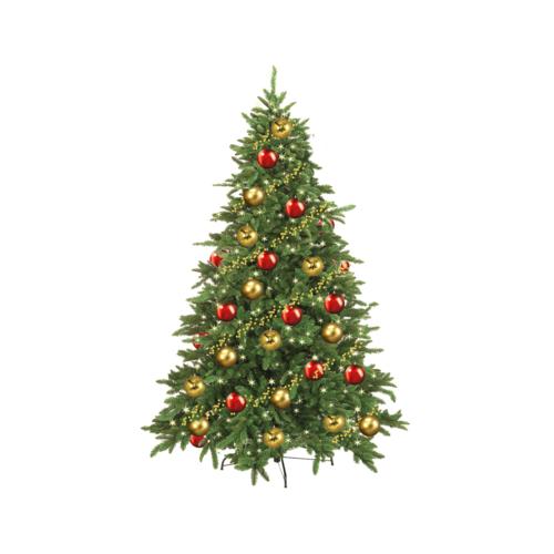 Klassisk gran för juldekoration i butik