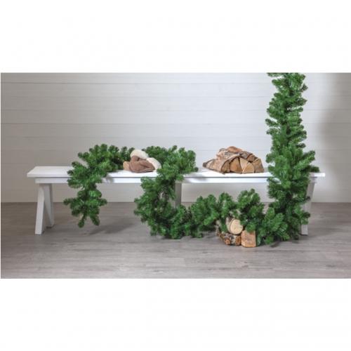 5 cm granrisgirlang för juldekoration i butik